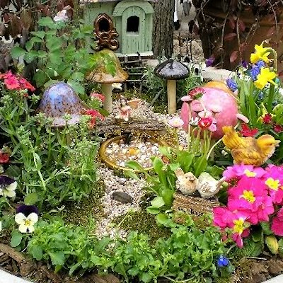 fairy garden in a planter