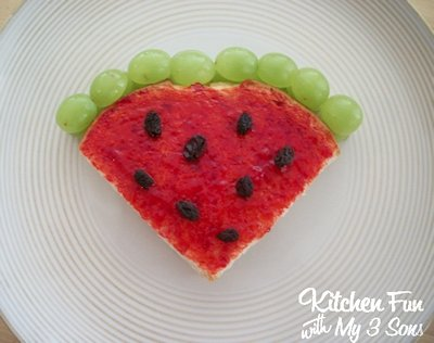 Watermelon PB&J Lunch