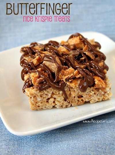 Butterfinger Rice Krispie Treats