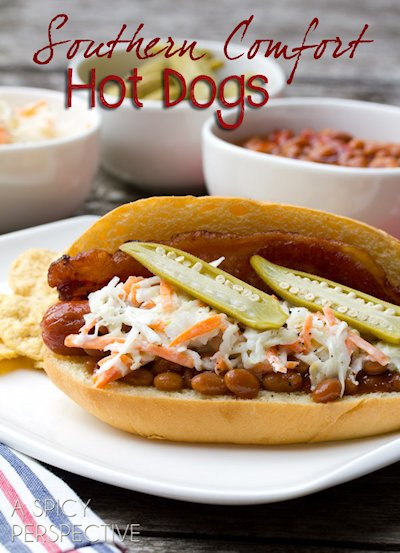 Southern Comfort Hot Dogs