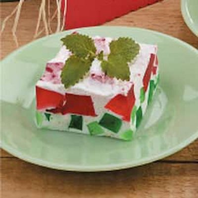 Watermelon Gelatin Dessert Recipe