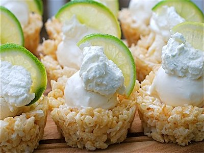 Coconut Lime Rice Krispie Coolers