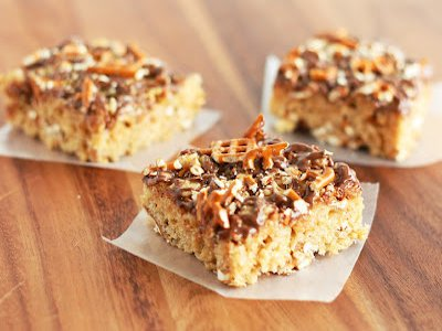 Peanut Butter Pretzel Rice Krispie Treats