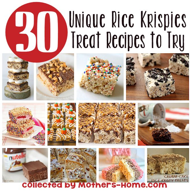 30 Unique Rice Krispies Treats Recipes