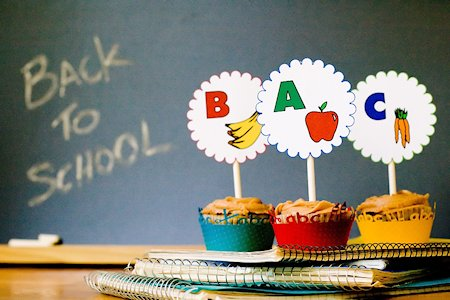 ABC Back to School Cupcakes