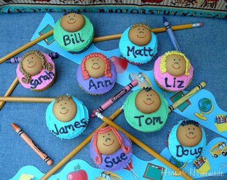 Classroom Kids Cupcakes for Back to School