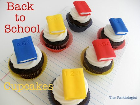 Back to School Cupcakes from The Partiologist