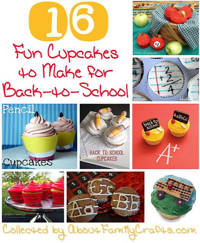 16 Back-to-School Cupcake Ideas