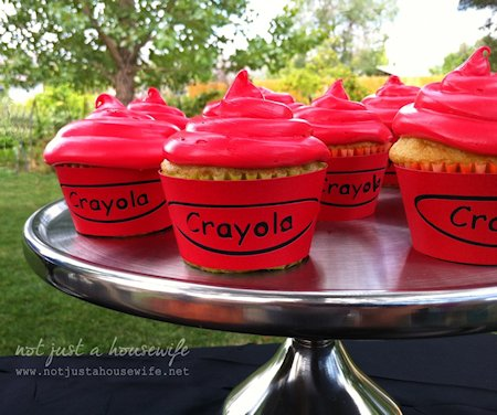 Crayon Cupcakes