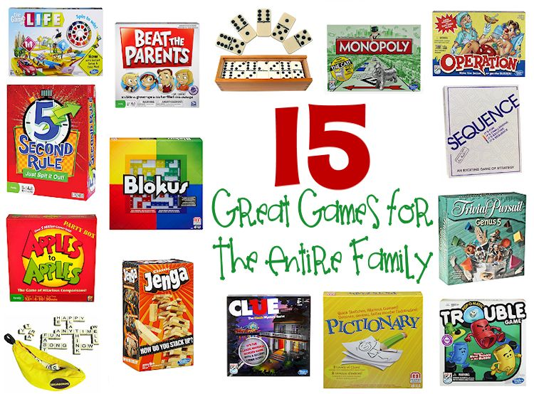 15 Great Games for the Entire Family