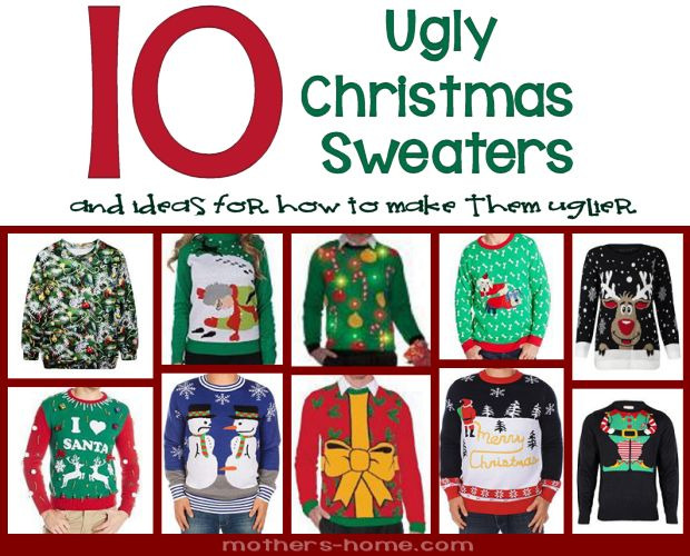 10 Ugly Christmas Sweaters and How to Make them Uglier