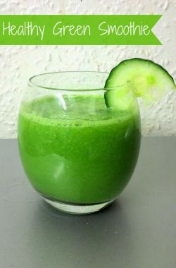 Cucumber Lime Healthy Green Smoothie Recipe
