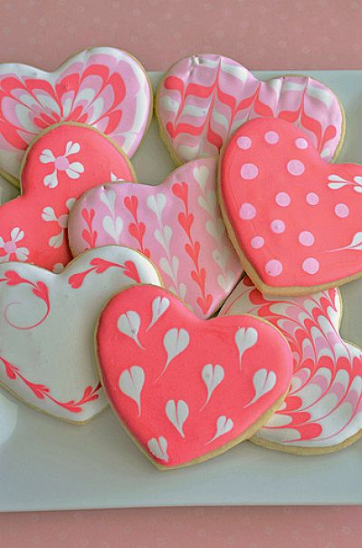 Marble Sugar Cookie Hearts