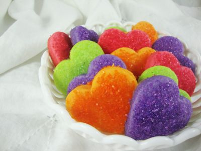 "I ""Heart"" Valentine's Day Jell-O Cookies"