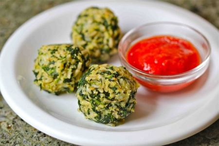 Spinach Brown Rice Balls