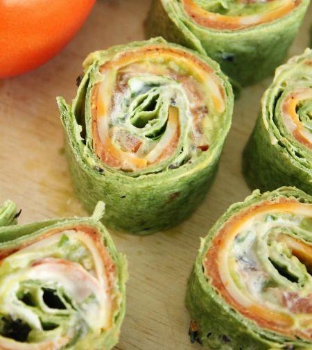 7-Layer-Dip Tortilla Pinwheels