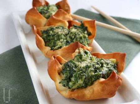 2 Ricotta-Spinach Cups