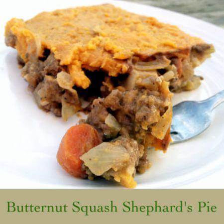 Healthy Butternut Squash Shephard's Pie