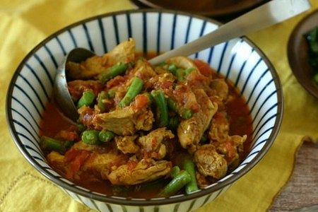 Chicken Tomato Green Bean Curry