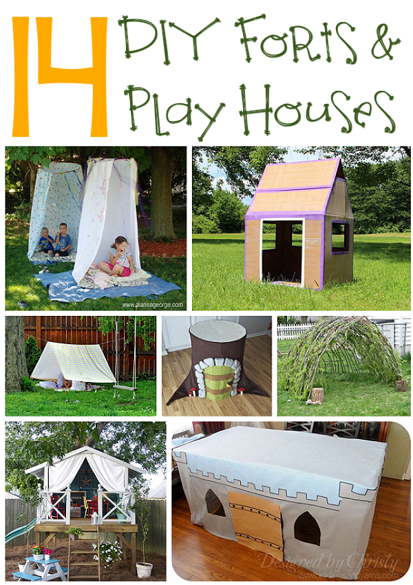 14 DIY Forts and Play Houses