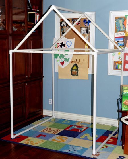 How to make a PVC Pipe Fort Frame