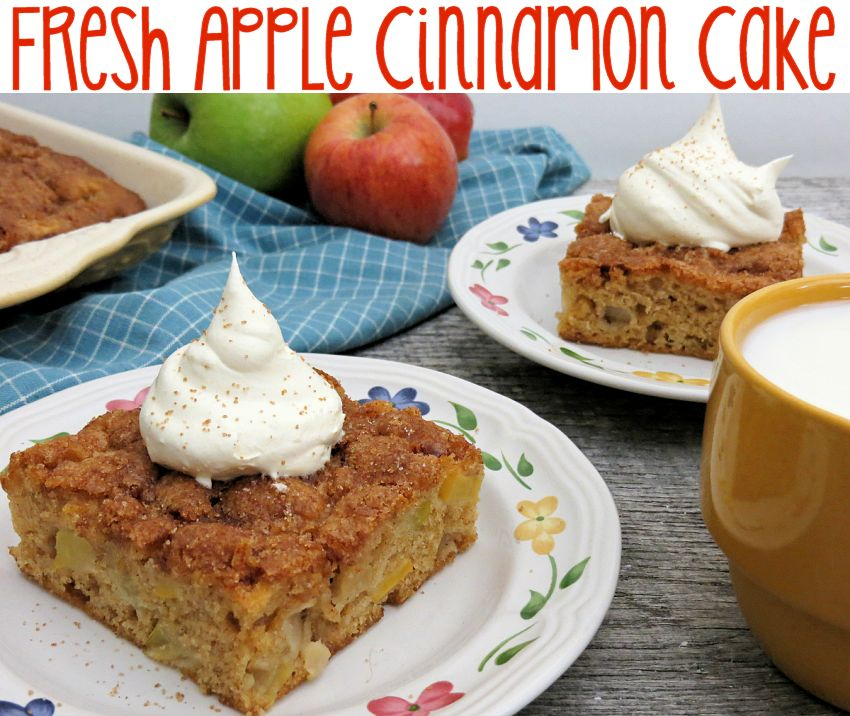 Fresh Apple Cinnamon Cake Recipe