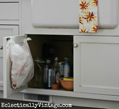 Use hooks to store plastic bags