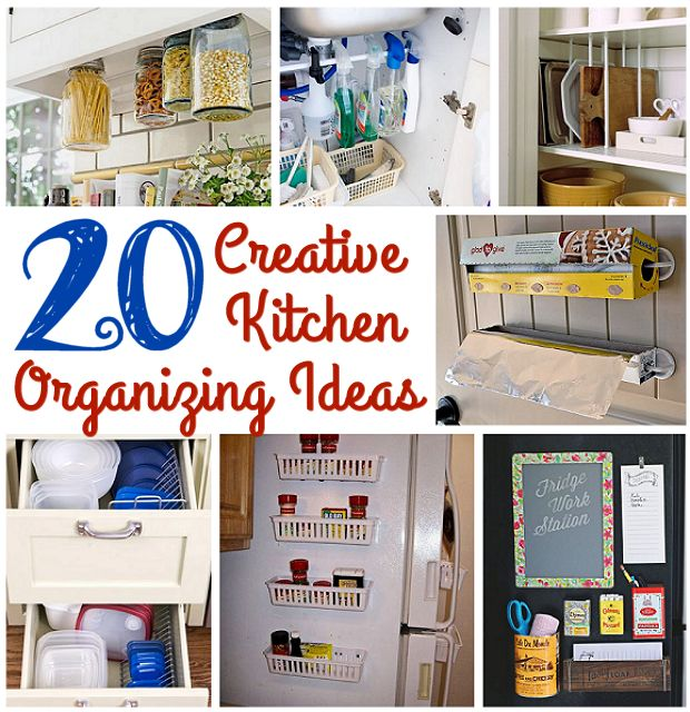 20 Creative Kitchen Organizing Ideas