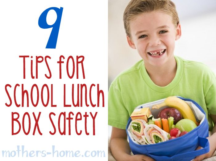 9 Tips for School Lunch Box Safety