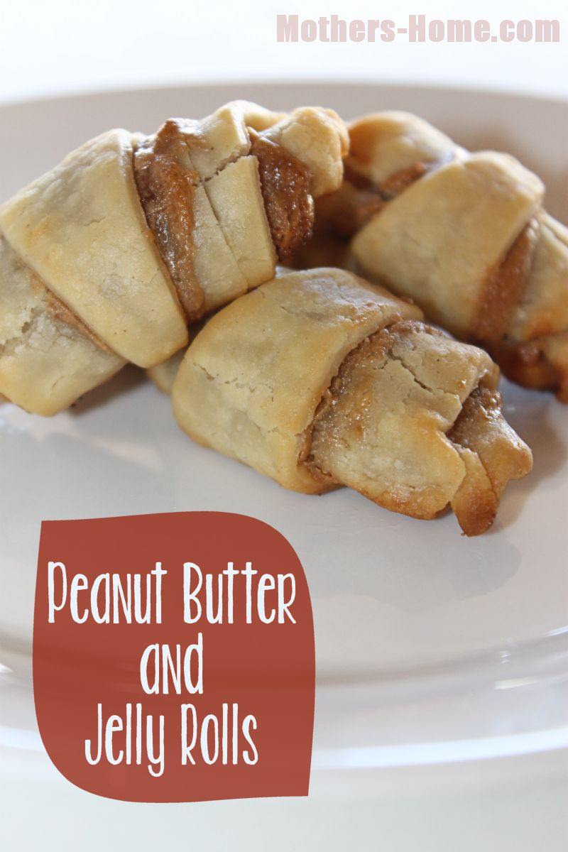 Peanut Butter and Jelly Pie Rolls