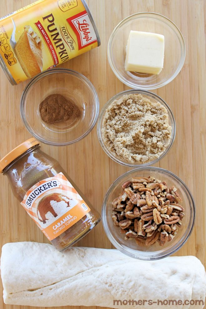 Pumpkin Pecan Caramel Rolls Ingredients