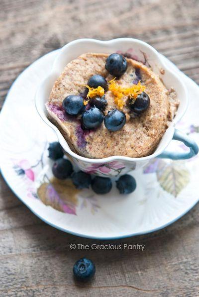 Blueberry Lemon Mug Cake
