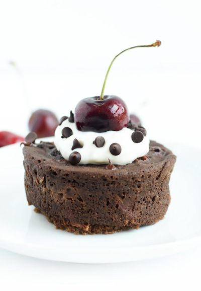 Healthy Chocolate Cherry Mug Cake