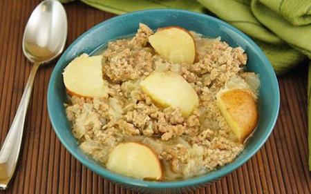 Hearty Crock Pot Beef Potato Onion Dinner