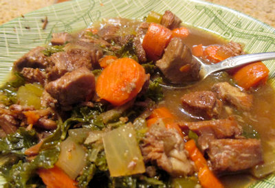 Beef and Kale Soup