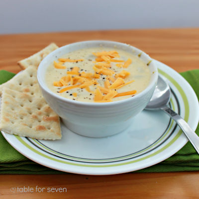 Three Cheese and Broccoli Soup