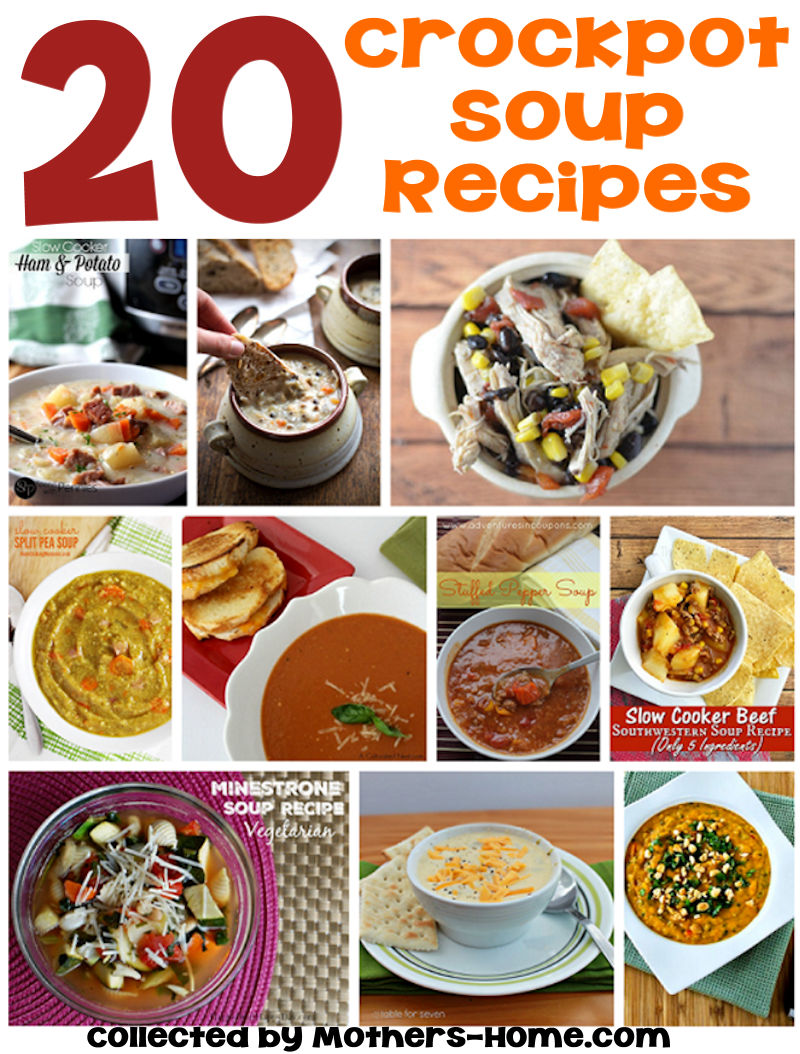 20 Crockpot Soup Recipes