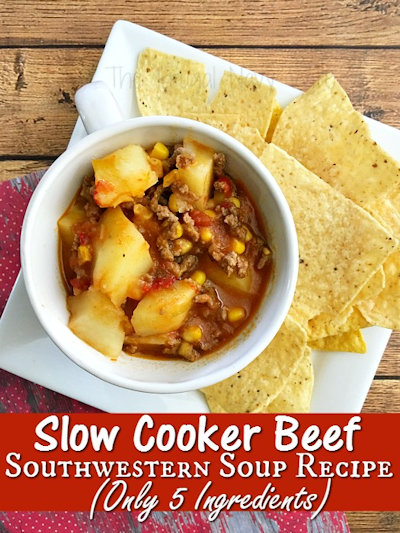 Slow Cooker Beef Southwestern Soup Recipe